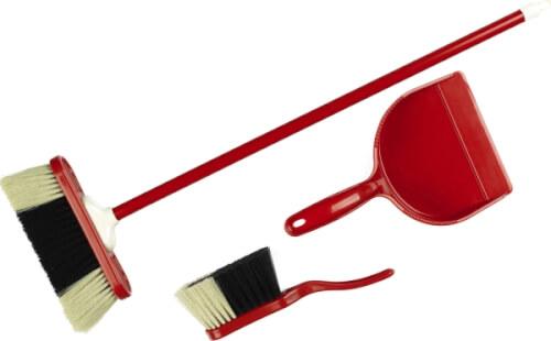 Theo Klein Spiel-Kehrset 3-teilig Kunststoff rot