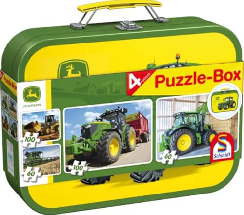 2x60 2x100 Teile Puzzle-Box John Deere Puzzle-Box im Metallkoffer