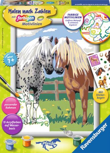 Ravensburger 285662 Malen Nach Zahlen Glückliche Pferde 285662