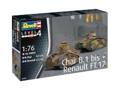 REVELL Char B.1 bis & Renault FT.17 1:76