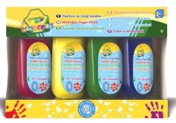 Crayola auswaschbare Fingermalfarbe 4  Tuben - gelb, rot, grün, blau