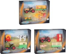 Speed Zone D/C Traktorspielset, Freilauf, 3-fach sortiert, 4-teilig, ca.   22,1x4,5x16,5 cm, ab 3 Jahren (nicht frei wählbar)