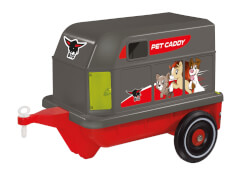 BIG Bobby-Car Pet-Caddy, Kunststoff, bis 50 kg, ca. 59x37x41 cm, rot-grau, ab 12 Monate