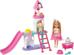 Mattel GML73 Barbie #Prinzessinnen Abenteuer'' Chelsea Haustier Spielset und Puppe