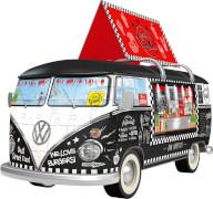 Ravensburger 125258 Puzzle 3D: VW Bulli Food Truck, 162 Teile