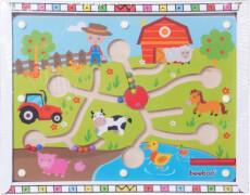 Beeboo Kugellabyrinth + Magnetstift Bauernhof