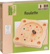 Natural Games Roulette 22 cm, Geschicklichkeitsspiel, für 2-10 Spieler, ca. 24,5x22x4 cm, ab 5 Jahren