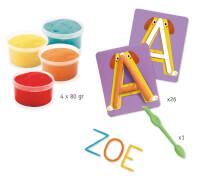 Knete 3-6: Knete Buchstaben