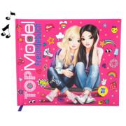 Depesche 8743 TOPModel Freundebuch mit Licht  und Sound, Motiv 2, pink