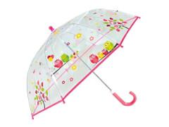 Kinder-Schirm transparent Eulen (4)