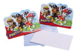 Amscan 8 Einladungskarten ''Paw Patrol'' inkl. Umschläge