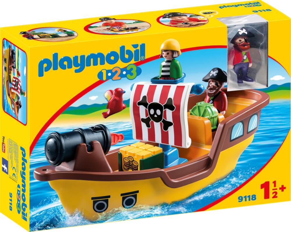 playmobil 9118 piratenschiff ca 29x13x14 cm ab 18 monaten 9118 jetzt kaufen online vor ort. Black Bedroom Furniture Sets. Home Design Ideas