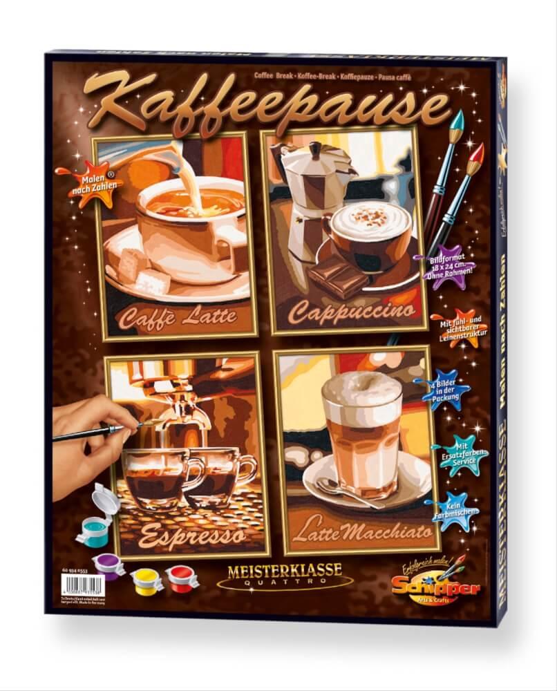 Schipper Malen Nach Zahlen Kaffeepause Quattro á 18 X 24 Cm 4