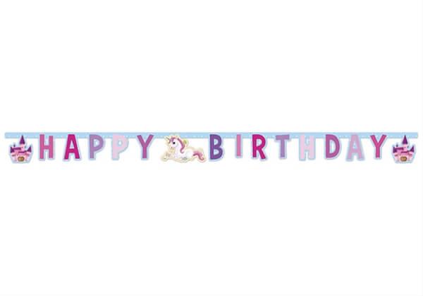 JT 85676 Einhorn Partykette Happy Birthday